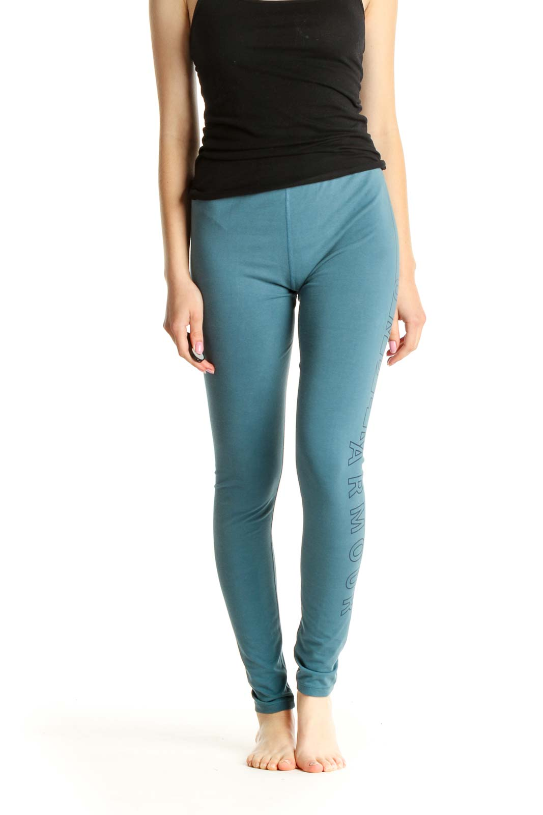 Blue Activewear Leggings Front