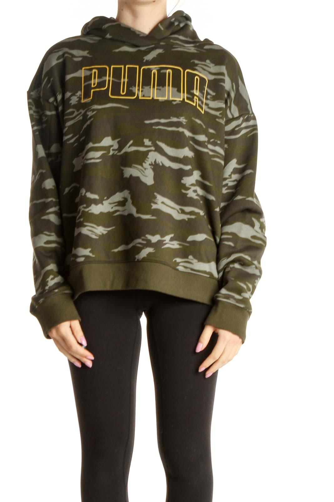 Brown Printed Sweatshirt Front
