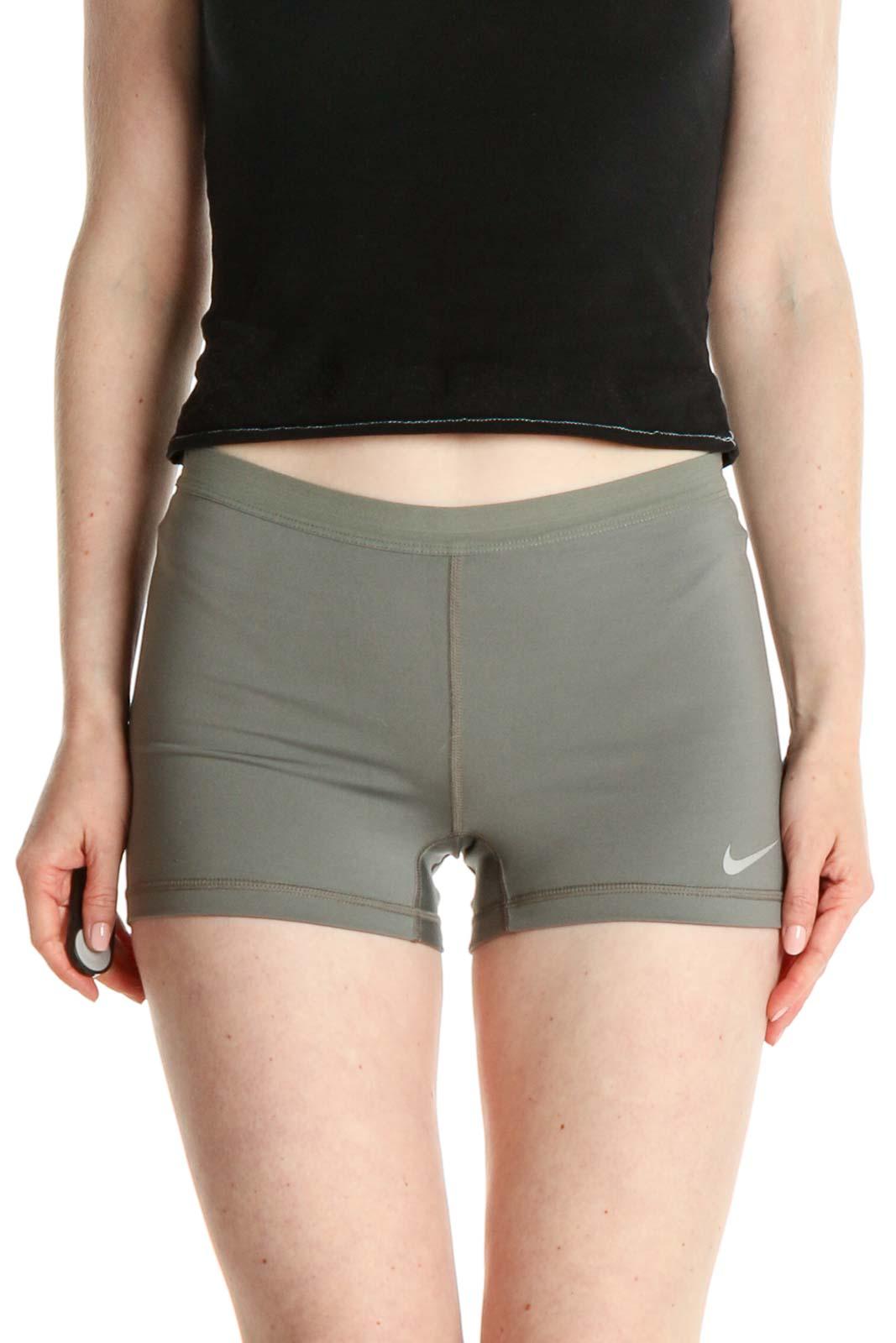 Green Activewear Shorts Front