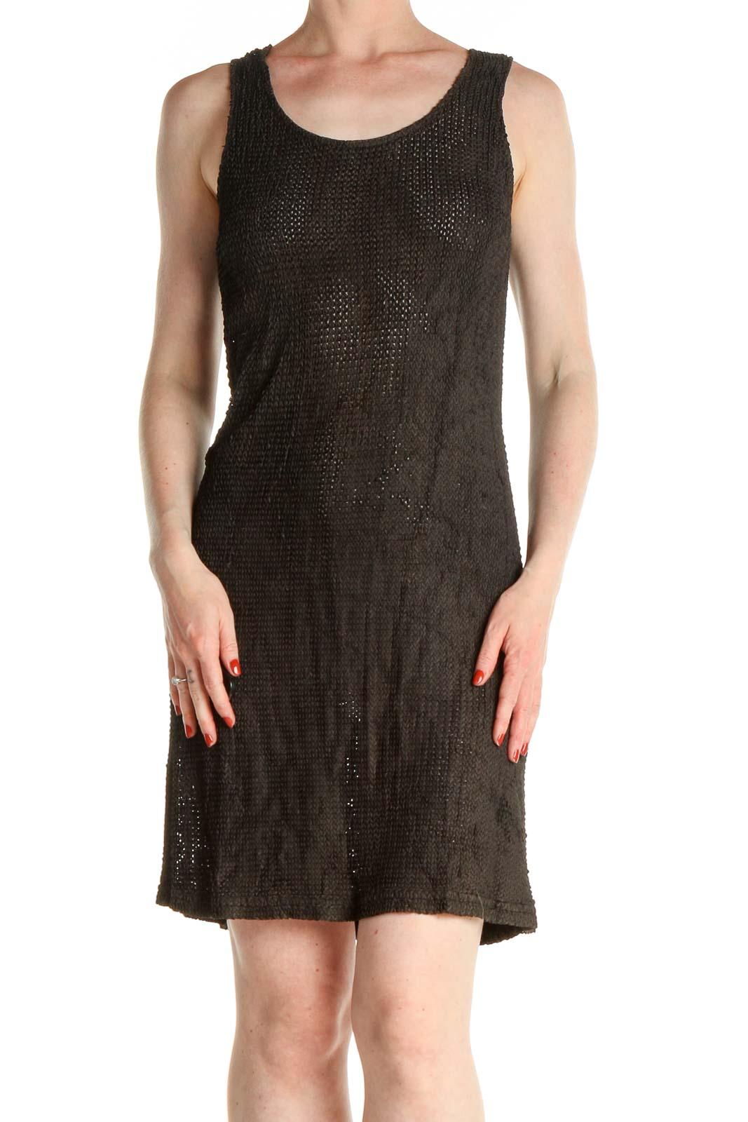 Black Day A-Line Mesh Dress Front
