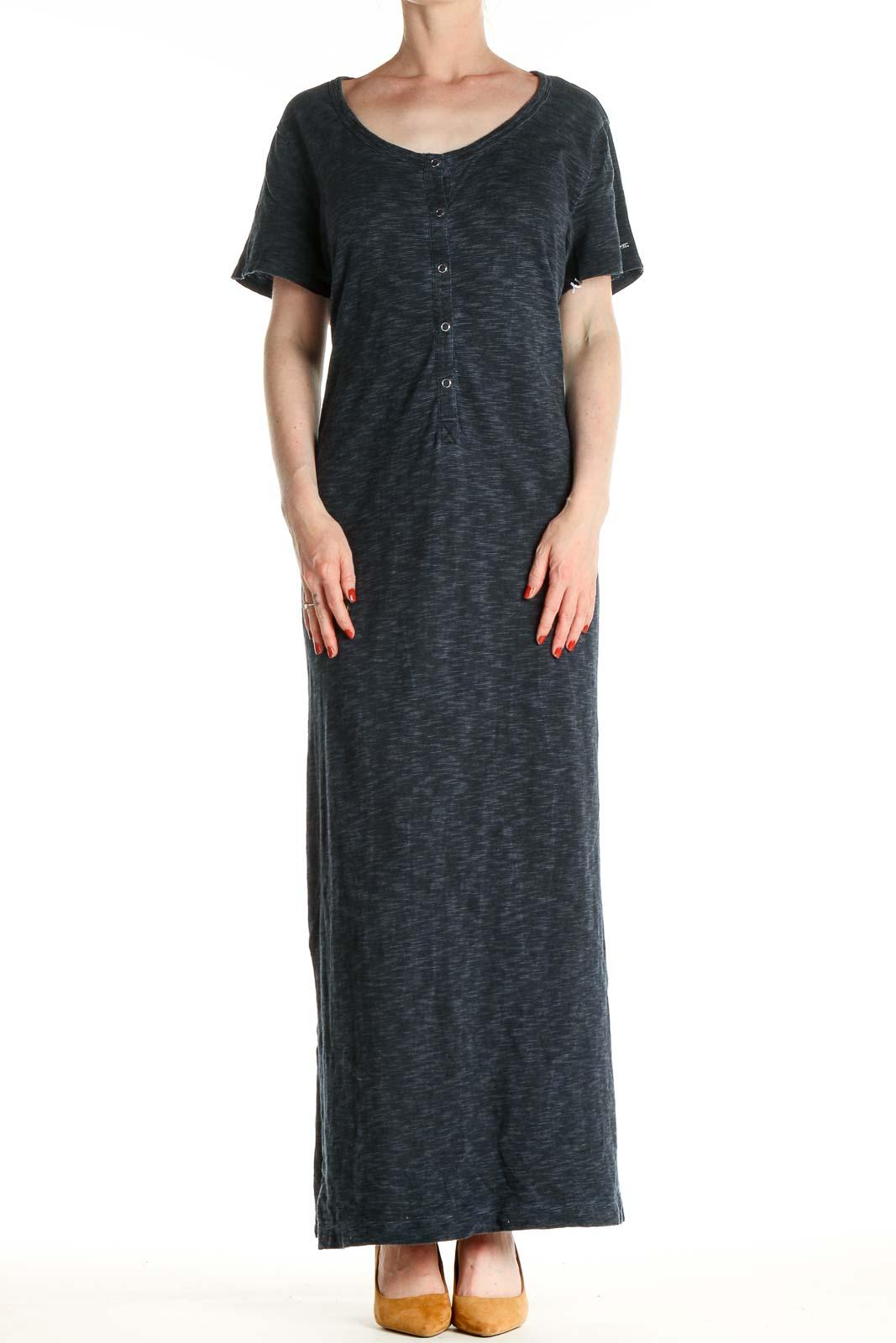 Gray Classic Column Dress Front