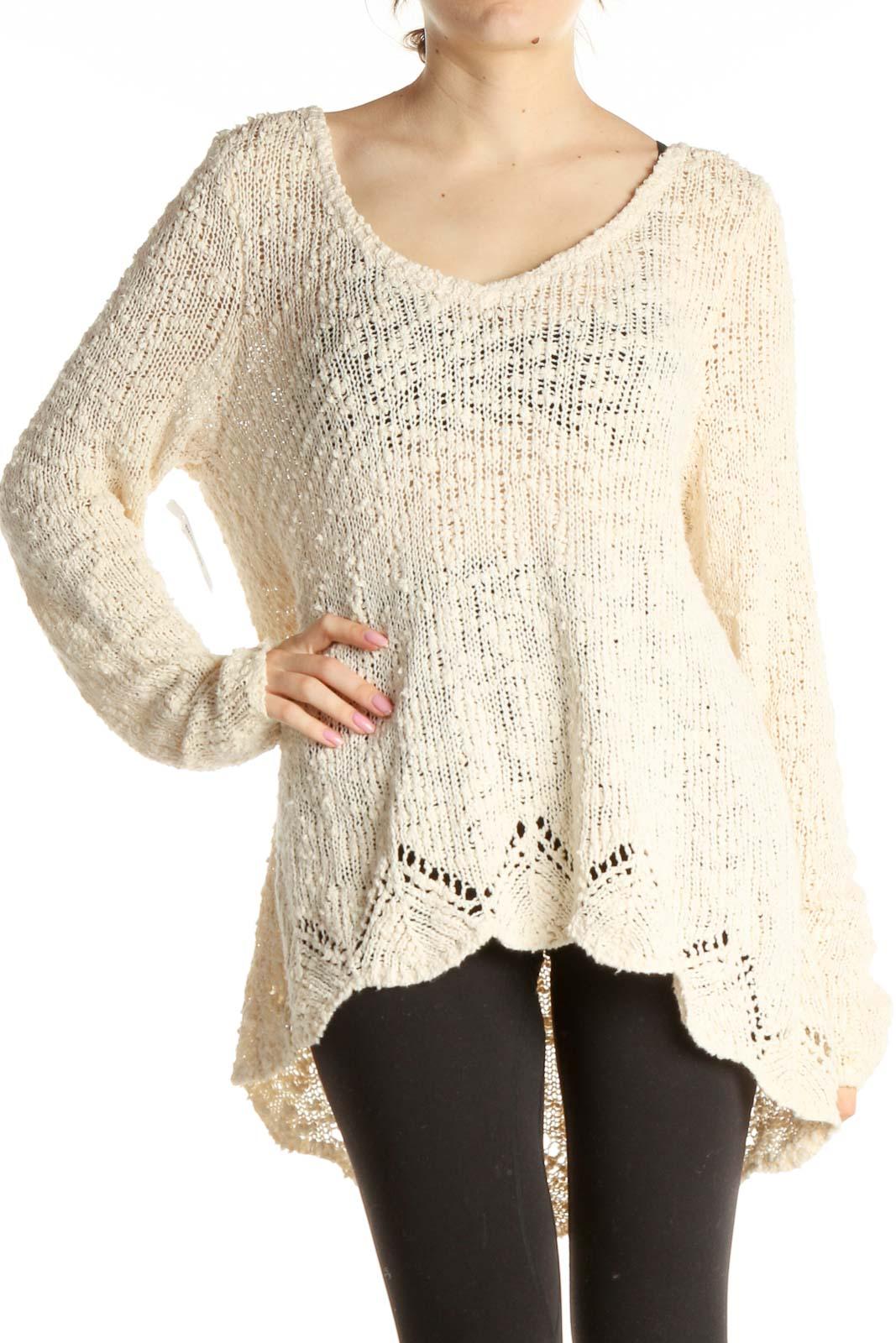 Beige Sweater Front