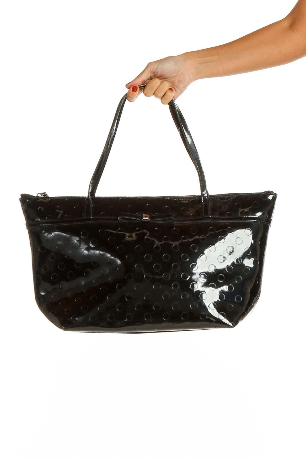 Black Tote Bag Front