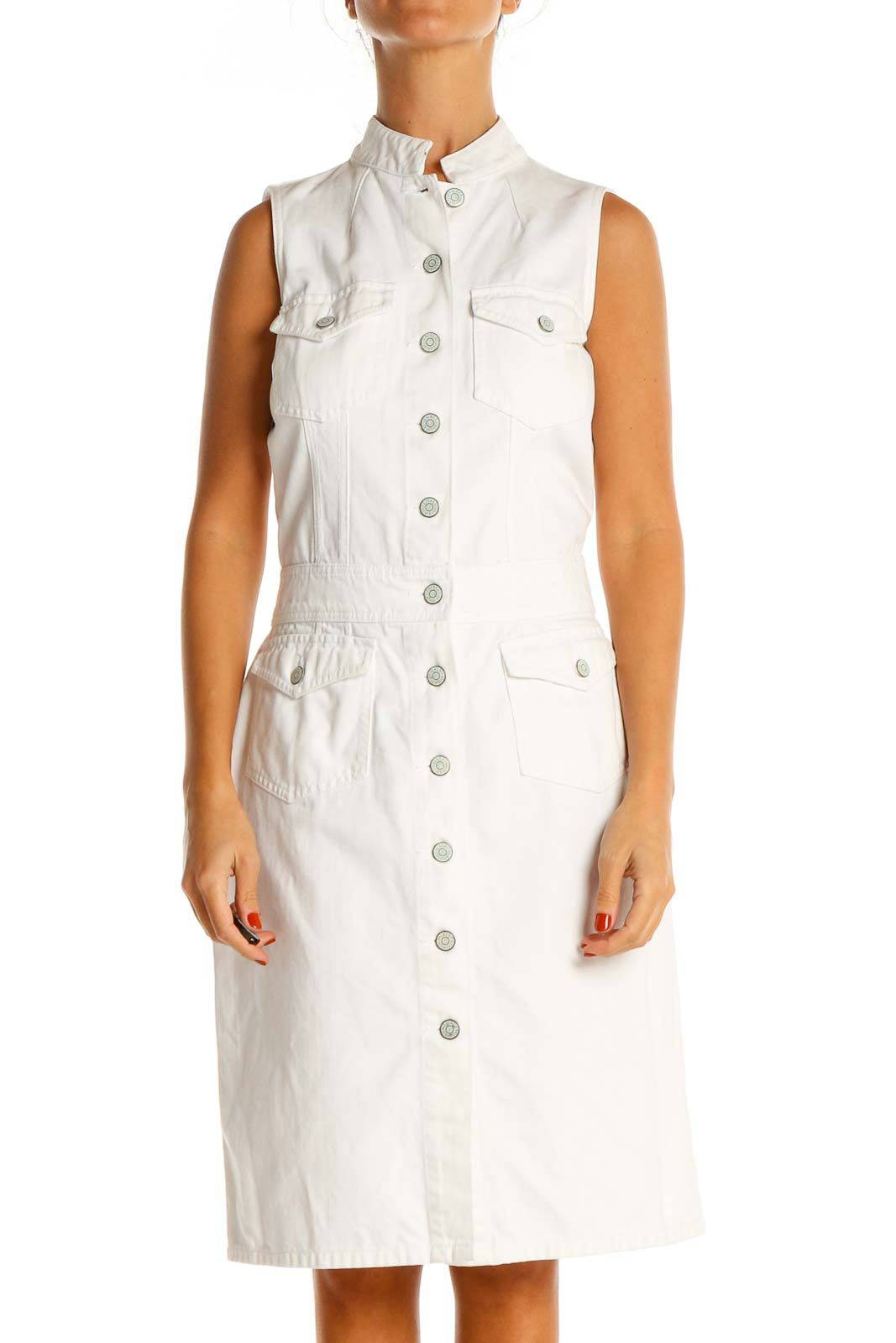 White Day A-Line Dress Front