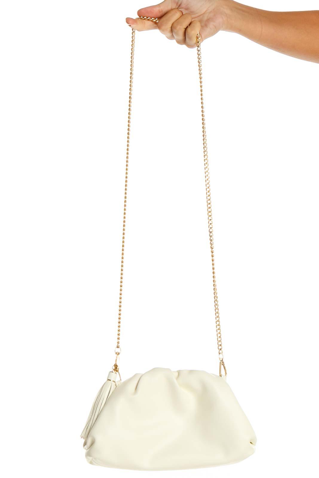 White Crossbody Bag Front