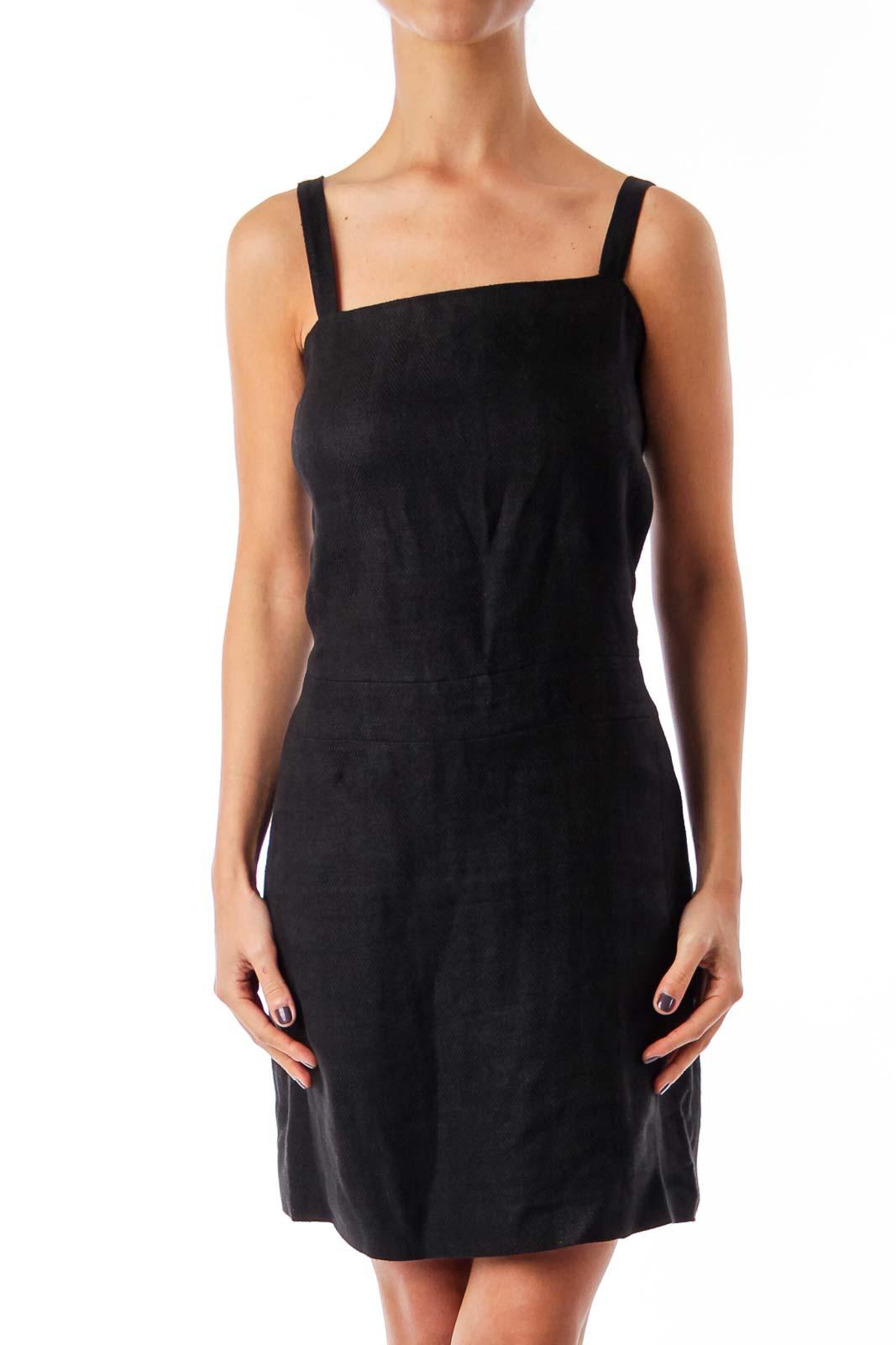 Black Slip Dress Front